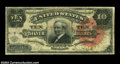 Large Size:Silver Certificates, Fr. 293 $10 1886 Silver Certificate Very Good-Fine. Fr. ...
