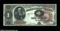 Fr. 347 $1 1890 Treasury Note Superb Gem New. Technical perfection and super eye appeal all combine on this strictly ori...