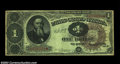 Fr. 348 $1 1890 Treasury Note CGA Very Fine 20. The scarcest of the 1890 Treasury Aces, with just a few more than two do...