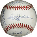 Autographs:Baseballs, 1978 New York Yankees World Champion Team Signed Baseball. ReggieJackson was brought to New York to help the New York Yank...