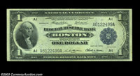 Fr. 708 $1 1918 Federal Reserve Bank Note Very Choice New. Good margins and nice original embossing, but there is a mino...