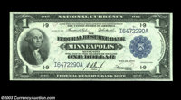 Fr. 734 $1 1918 Federal Reserve Bank Note Very Choice New. A well margined and attractive example of the most common of...
