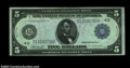 Large Size:Federal Reserve Notes, Fr. 858 $5 1914 Federal Reserve Note Choice About New. A ...