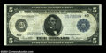 Large Size:Federal Reserve Notes, Fr. 859a $5 1914 Federal Reserve Note Star Very Fine. Just ...
