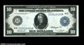 Large Size:Federal Reserve Notes, Fr. 918 $10 Federal Reserve Note Choice Extremely Fine. A ...