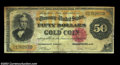 Large Size:Gold Certificates, Fr. 1193 $50 1882 Gold Certificate Fine. The paper is ...