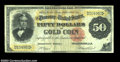 Large Size:Gold Certificates, Fr. 1194 $50 1882 Gold Certificate Fine. Only about 20 ...