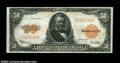 Large Size:Gold Certificates, Fr. 1200 $50 1922 Gold Certificate About New. A beautiful ...