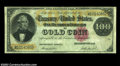 Large Size:Gold Certificates, Fr. 1214 $100 1882 Gold Certificate Fine. The paper ...