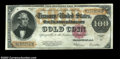 Large Size:Gold Certificates, Fr. 1215 $100 1922 Gold Certificate Very Fine. Irregularly ...