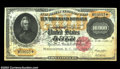 Large Size:Gold Certificates, Fr. 1225 $10,000 1900 Gold Certificates Cut Sheet of Three ... (3notes)