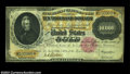 Large Size:Gold Certificates, Fr. 1225 $10,000 1900 Gold Certificate Very Fine, Repaired.