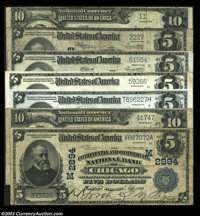 Large Size Chicago Grouping. Chicago, IL - $5 1902 Date Back Fr. 601 Continental & Commerical NB Ch. # (M)2894 VG Ch...