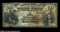 National Bank Notes:Missouri, Carthage, MO - $20 1882 Brown Back Fr. 494 The NB of ...