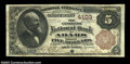 Adams, NY - $5 1882 Brown Back Fr. 471 The Citizens NB Ch. # 4103 A just plain rare Brown Back from a bank that lasted...
