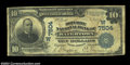 Watertown, SD - $10 1902 Plain Back Fr. 624 Security NB Ch. # (W)7504 Pen signed Very Good-Fine example from a bank