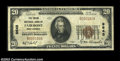 National Bank Notes:West Virginia, Fairmont, WV - $20 1929 Ty. 2 Union NB of Fairmont Ch. ...
