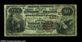 National Bank Notes:Wisconsin, Appleton, WI - $10 1882 Brown Back Fr. 487 Citizens NB ...