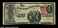 National Bank Notes:Wisconsin, La Crosse, WI - $1 1875 Fr. 384 The La Crosse NB Ch. # ...