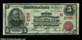 National Bank Notes:Wisconsin, Milwaukee, WI - $5 1902 Red Seal Fr. 587 The First NB ...