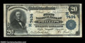 National Bank Notes:Wisconsin, Phillips, WI - $20 1902 Plain Back Fr. 650 The First NB
