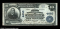 National Bank Notes:Wisconsin, Platteville, WI - $10 1902 Plain Back Fr. 628 The First ...