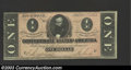 Confederate Notes:1864 Issues, 1864 $1 Clement C. Clay, T-71, Crisp Uncirculated. ...