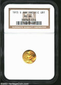 Commemorative Gold: , 1915-S Panama-Pacific Gold Dollar MS64 NGC. ...