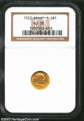Commemorative Gold: , 1922 Grant with Star AU58 NGC. ...