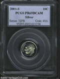 Proof Roosevelt Dimes: , 2001-S Silver PR 69 Deep Cameo PCGS. ...