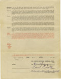 Autographs:Others, 1929 Ernie Orsatti Signed Uniform Player's Contract. This GashouseGang staple produced the best offensive numbers of his c...