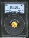 Commemorative Gold: , 1922 Grant with Star MS66 PCGS. ...