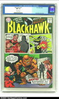 Silver Age (1956-1969):Adventure, Blackhawk #212 (DC, 1965) CGC NM- 9.2 Off-white pages. Dick Dillin cover and art. Overstreet 2002 NM 9.4 value = $20. ...