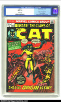 Bronze Age (1970-1979):Superhero, The Cat #1 (Marvel, 1972) CGC NM+ 9.6 Off-white pages. Origin andfirst appearance of the Cat (Tigra); Marie Severin and Wal...