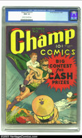 Golden Age (1938-1955):Superhero, Champ Comics #11 (Harvey, 1940) CGC FR/GD 1.5 Cream to off-whitepages. First issue this title. Overstreet 2002 GD 2.0 value...