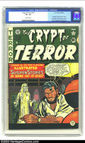 Golden Age (1938-1955):Horror, Crypt of Terror #19 (EC, 1950) CGC VG- 3.5 Off-white pages. JohnnyCraig cover. Craig, Feldstein, and Ingels art. Last issue...