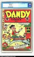 "Golden Age (1938-1955):Funny Animal, Dandy Comics #5 (EC, 1947) CGC GD/VG 3.0 Cream to off-white pages.CGC notes: ""Stain on every page"". Overstreet 2002 GD 2.0 ..."