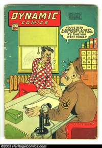 """Dynamic Comics #17 (Chesler, 1946) Condition: GD+. Illustrated in SOTI, """"The children told me what the man was goin..."""