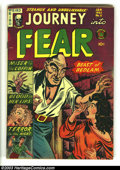 Golden Age (1938-1955):Horror, Journey Into Fear #11 (Superior, 1953) Condition: FN-. Rarepre-code horror in nice condition. Nice bright book with off-whi...