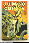 Golden Age (1938-1955):Adventure, Jumbo Comics #91 (Fiction House, 1946) Condition: VG/FN. Joe Doolin cover, with Matt Baker and Jack Kamen art. 1 1/2 inch te...