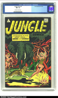 Jungle Comics #9 (I.W. Enterprises, 1952) CGC NM- 9.2 Off-white to white pages. Canadian edition; Wambi and Kaanga. Over...
