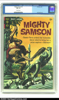 Silver Age (1956-1969):Adventure, Mighty Samson #9 (Gold Key, 1967) CGC NM 9.4 Off-white pages. Jack Sparling art; painted cover. Overstreet 2002 NM 9.4 value...