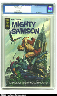 Mighty Samson #18 (Gold Key, 1969) CGC NM/MT 9.8 Off-white pages. Jack Sparling art; painted cover. Overstreet 2002 NM 9...