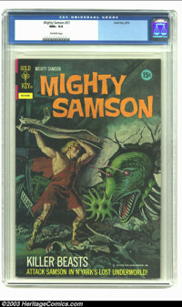 Mighty Samson #21 (Gold Key, 1972) CGC NM+ 9.6 Off-white pages. Painted cover. Overstreet 2002 NM 9.4 value = $18