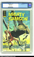 Bronze Age (1970-1979):Miscellaneous, Mighty Samson #22 (Gold Key, 1973) CGC NM+ 9.6 Off-white to whitepages. Samson battles a gang of barbaric raiders; painted ...