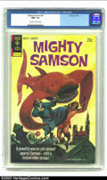 Bronze Age (1970-1979):Miscellaneous, Mighty Samson #24 (Gold Key, 1974) CGC NM+ 9.6 Off-white to whitepages. Painted cover. Overstreet 2002 NM 9.4 value = $18. ...