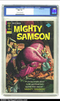 Bronze Age (1970-1979):Miscellaneous, Mighty Samson #25 (Gold Key, 1974) CGC NM+ 9.6 Off-white to whitepages. Painted cover. Overstreet 2002 NM 9.4 value = $18. ...