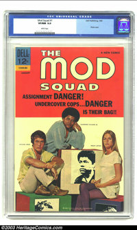 Mod Squad #1 (Dell, 1969) CGC VF/NM 9.0 White pages. Photo cover. Beautiful copy. Overstreet 2002 NM 9.4 value = $70...