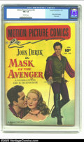 Golden Age (1938-1955):Miscellaneous, Motion Picture Comics #108 (Fawcett, 1952) CGC FN+ 6.5 Off-white pages. Mask of the Avenger; John Derek photo cover. Overstr...