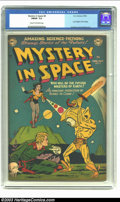 Golden Age (1938-1955):Science Fiction, Mystery in Space #8 (DC, 1952) CGC FN/VF 7.0 Cream to off-whitepages. Last Knights of the Galaxy; Anderson and Infantino ar...